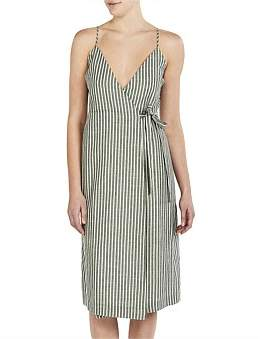 Nude Lucy Malloy Wrap Dress
