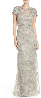 Women's Tadashi Shoji Embroidered Gown $548 thestylecure.com
