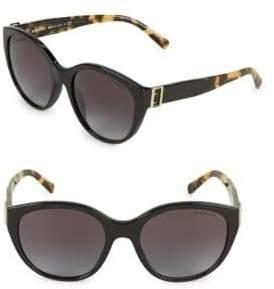 3726c541e2b38 Burberry 55MM Tortoiseshell Tipped Round Sunglasses