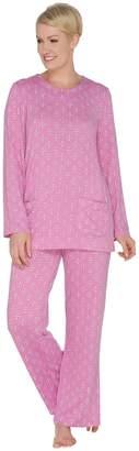 Carole Hochman Regular Printed Hacci Lounge Pajama Set
