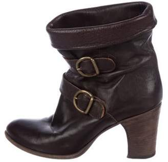Fiorentini+Baker leather Round-Toe Ankle Boots Brown leather Round-Toe Ankle Boots