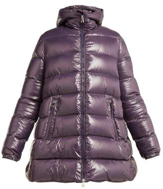 Moncler 1 Pierpaolo Piccioli - Beatrice Hooded Quilted Down Jacket - Womens - Light Purple