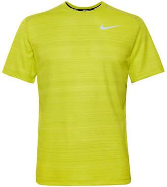 Nike Running Miler Logo-Print Breathe Dri-Fit T-Shirt