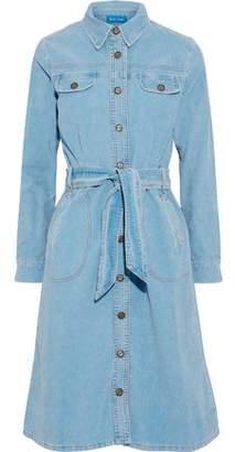MiH Jeans Newton Tie-Front Cotton-Corduroy Shirt Dress
