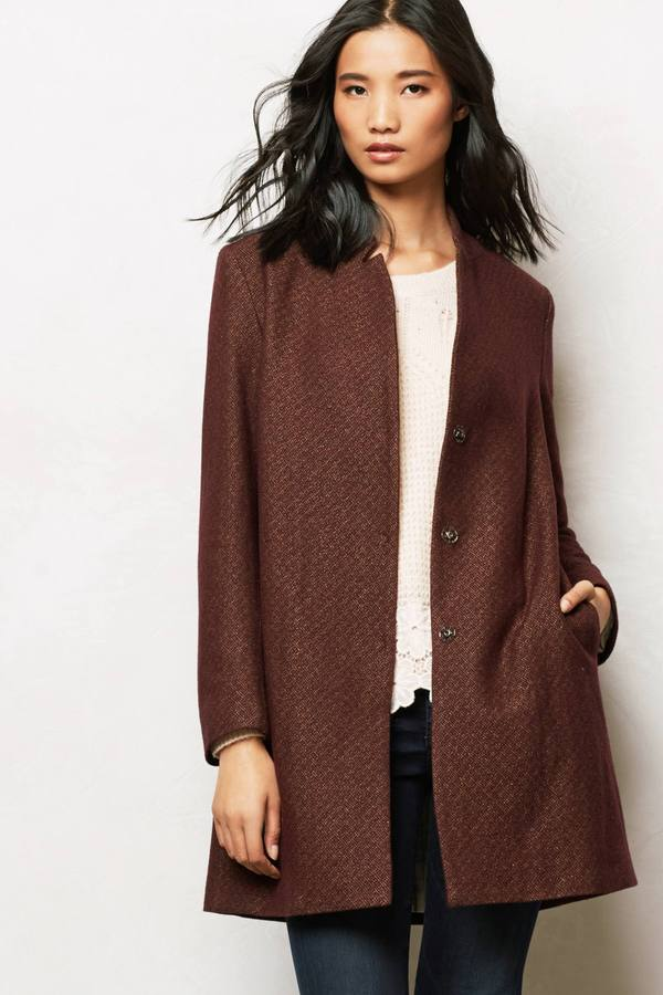 Anthropologie Abril Wool Coat