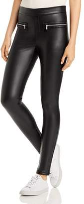 Bagatelle Faux-Leather Zipper Leggings