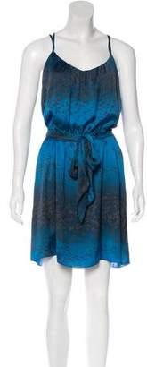 Rebecca Taylor Sleeveless Bird Motif Dress