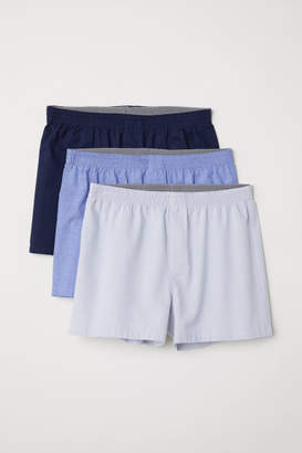 H&M 3-pack Woven Boxer Shorts - Gray