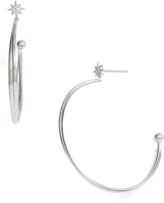 Anzie Twisted Wire Open Hoop Earrings