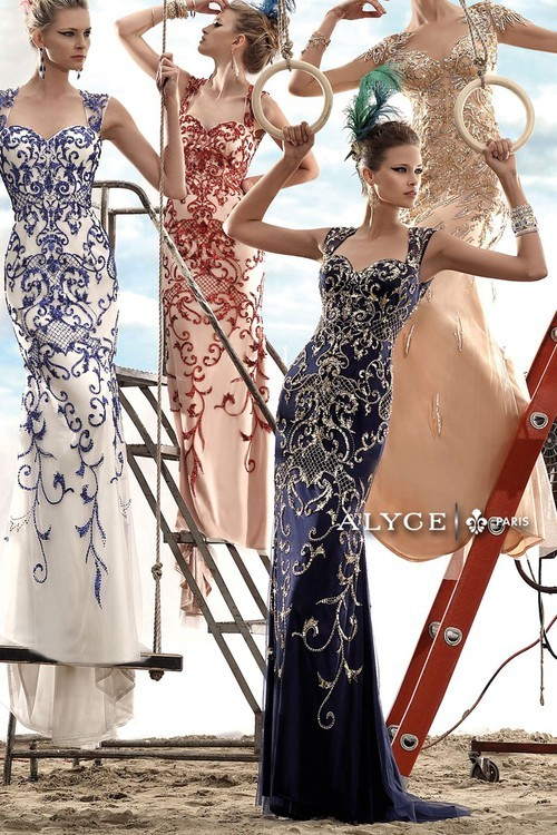 Alyce Paris Claudine - 2429 Dress in White Royal