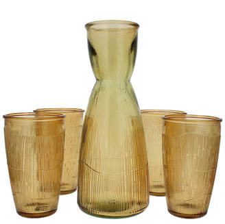 French Home Recycled Glass Decanter & Tumblers