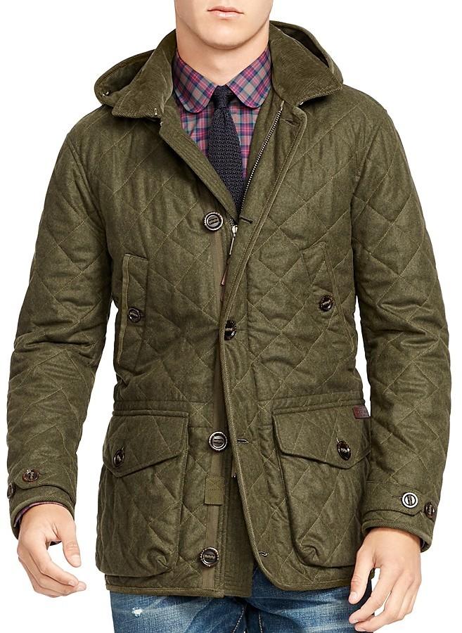 Polo Ralph LaurenPolo Ralph Lauren Quilted Wool-Blend Coat