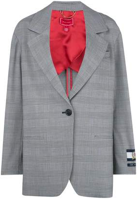 Tommy Hilfiger (トミー ヒルフィガー) - Hilfiger Collection oversized logo patch blazer