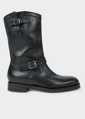 Paul Smith Men's Black 'Marston' Mid-Calf Leather Boots