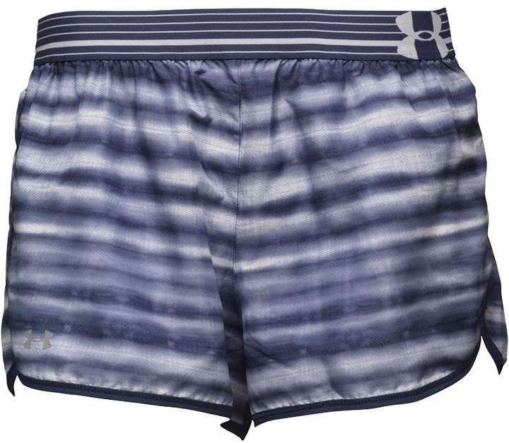 Damen HeatGear Perfect Pace Printed Shorts Lila