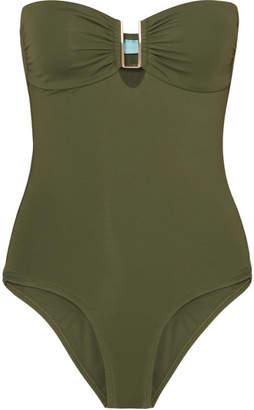 Melissa Odabash Argentina Bandeau Swimsuit - Army green