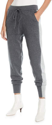 Derek Lam 10 Crosby Knit Wool-Blend Sweatpants w/ Tuxedo Stripes