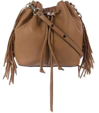 Rebecca Minkoff Grained Leather Fringe Bucket Bag