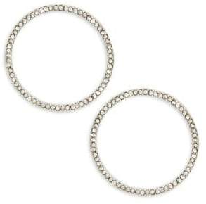 Design Lab Crystal Pave Hoop Earrings