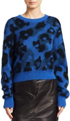 Rag & Bone Leopard Print Boxy Knit Sweater