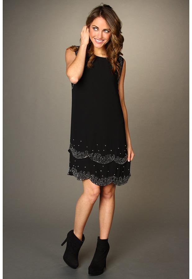 Ted Baker Maree Embellished Flapper Dress (Black) - Apparel