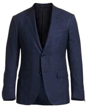 Ermenegildo Zegna Men's Wool Suit Jacket - Blue - Size 50 (40) R