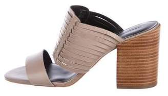 Rebecca Minkoff Leather Mid-Heel Sandals