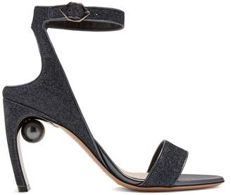 Nicholas Kirkwood Lola faux-pearl heeled glitter sandals