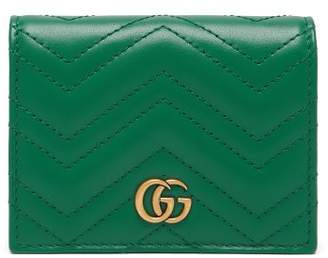 Gucci Gg Marmont Quilted Leather Wallet - Womens - Green