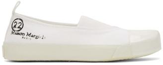 Maison Margiela SSENSE Exclusive White Low-Top Sneakers