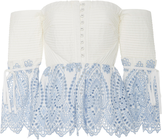 Self Portrait Off-The-Shoulder Lace Blouse