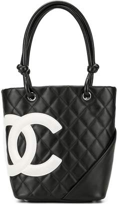 Chanel Pre-Owned Cambon Line quilted CC tote