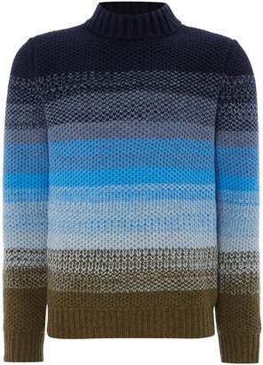 Perry Ellis Men's Knitted Crew-Neck Wool-Blend Jumper