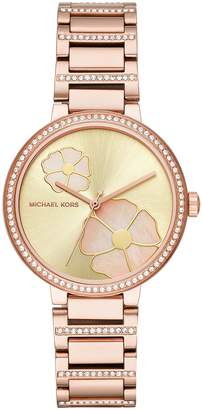Michael Kors Women's 'Courtney' Quartz Stainless Steel Casual Watch, Color:-Toned (Model: MK3836)