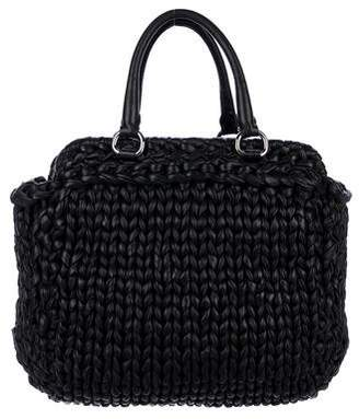 Prada Braided Nappa Handle Bag