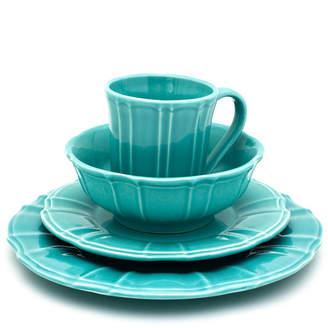 Chloé EuroCeramica 16 Piece Turquoise Dinnerware Set