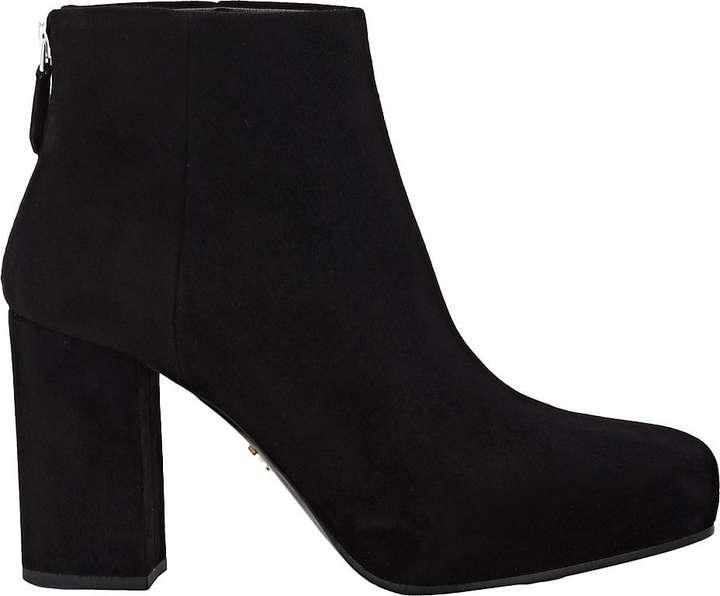 Prada Women's Suede Platform Ankle Boots