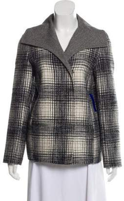 Oscar de la Renta Patterned Wool-Blend Coat