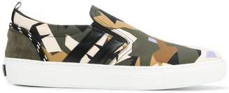 MSGM camouflage slip-on sneakers