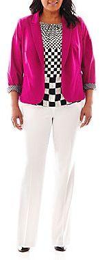 JCPenney Worthington® 1-Button Blazer, Sleeveless Pleat-Neck Top or Modern Pants - Plus