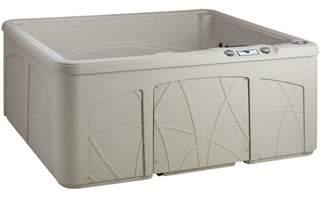 Lifesmart Spas Retreat DLX 5-Person 28-Jet Plug and Play Spa with Waterfall and Ozone System