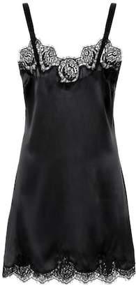 Dolce & Gabbana Lace-trimmed satin slip dress
