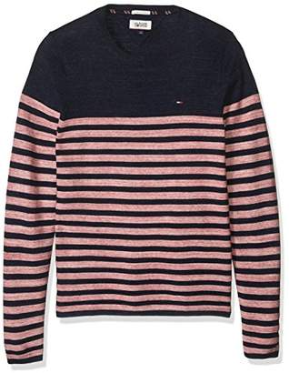 Tommy Hilfiger Men's Basic Crew Neck Sweater Long Sleeve Shirt