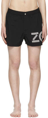 Kenzo Black Logo Swim Shorts