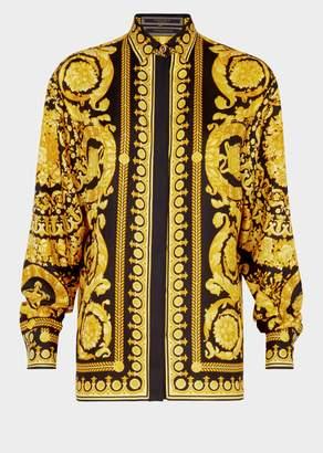 Versace Barocco FW'91 Print Silk Shirt