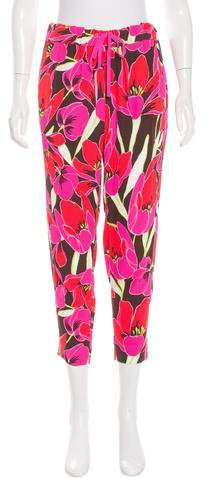 Kate Spade New York High-Rise Printed Pants