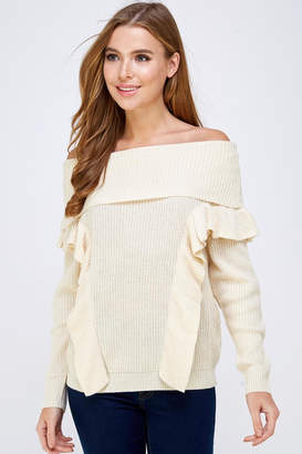 Jealous Tomato Off Shoulder Sweater