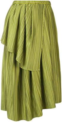 Christian Wijnants Plisse draped skirt