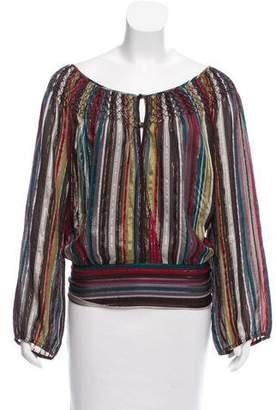 Max Azria Open Back Silk Blouse