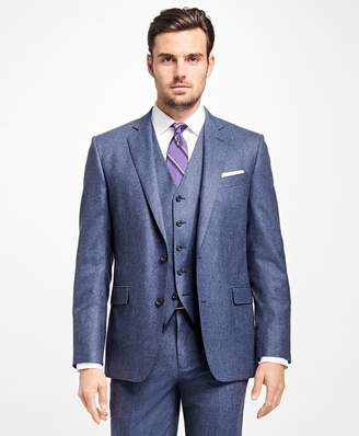 Brooks Brothers Regent Fit Three-Piece Flannel 1818 Suit